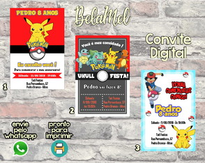 Convite Digital Pokemon