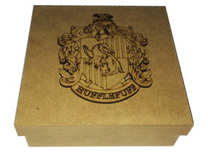 Caixa 15x15 Aplique Harry Potter Lufa Lufa Mdf Cru