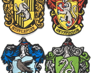 Patches Bordados 4 Brasões Casas Harry Potter modelo2