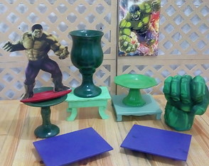 Aluguel kit pegue monte Hulk