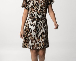 Vestido estampa animal print