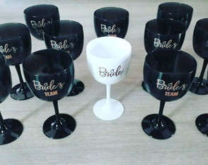 Kit 10 taças de Gin 580ml team bride - personalizadas