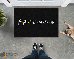 Capacho Divertido - Friends Logo