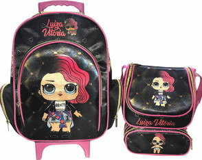 Kit Mochila Escolar Personalizada Lol Rocker