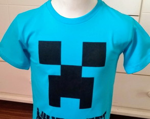 CREEPER-jogo do minecraft com nome (camiseta pintada)