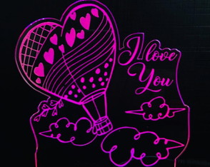 Luminária LED Personalizada com nome do Casal - I Love You