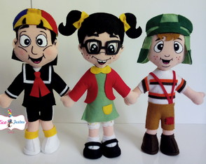 Turma do Chaves 07 personagens - Feltro