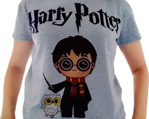 Camiseta baby look feminina Harry Potter
