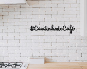 Placas Decorativas Frases Cantinho Do Café Mdf 6mm