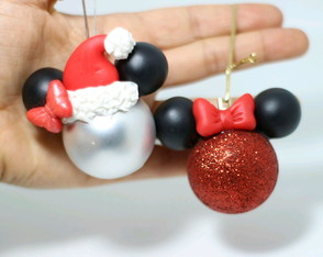 Bola de Natal Mickey e Minnie