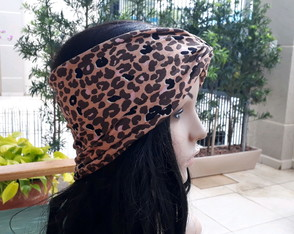Turbante Aberto extra largo animal print