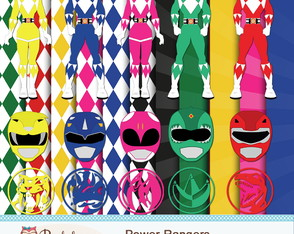 Kit Digital Scrapbook Power Rangers - C.526