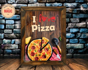 Quadro Decorativo PIZZA Vintage