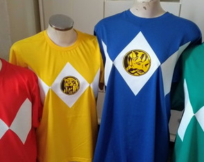 POWER RANGER - kit com 4 camisetas