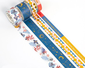 Kit Washi Tapes com Foil - Good Vibes (4 Unidades)