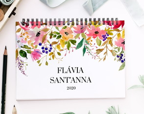 Planner Anual Personalizado A4 Blush Flower