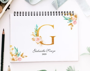 Planner Anual Personalizado A4 Letter Flower