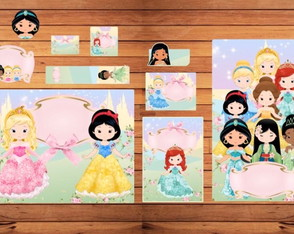 Kit escolar Princesas