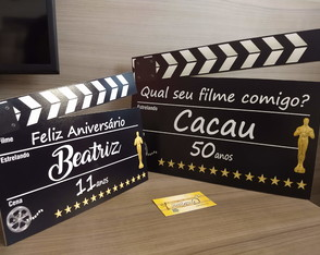 Display Claquete cinema Familia(MDF)