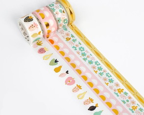 Kit Washi Tapes com Foil - Candy Colours (4 Unidades)