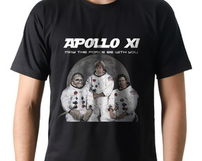 Camiseta Camisa Nerd Geek Nasa Star Wars Apollo 11 Apollo XI