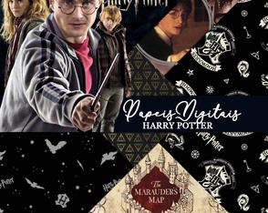 Kit Scrapbook: Papéis Harry Potter