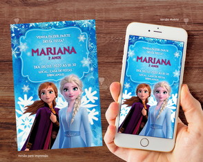 Convite Digital Frozen 2 / Whatsapp R. 331