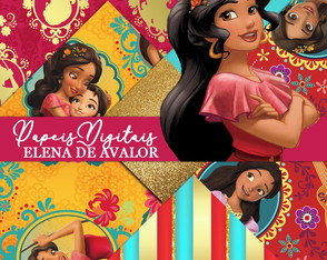Kit Scrapbook: Papéis Elena de Avalor