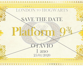Save the Date Hogwarts