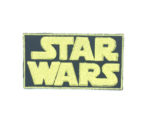 Patch Bordado Termocolante Logo Star Wars
