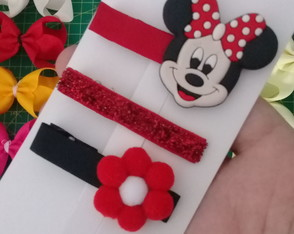 Hair Clip trio Minnie