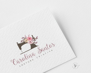 Logo Costura Bordado Feltro Ateliê EXCLUSIVO -Pronta Entrega