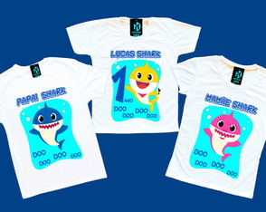 Kit camisetas aniversario Baby shark