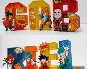 Letras decorativas 3D Dragon Ball Z