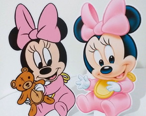 Kit 02 Totens de Mesa Baby Minnie