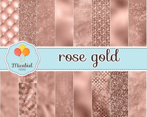 Papel Digital - Rose Gold (luxo)