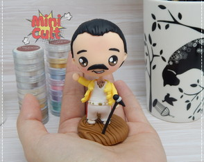 Toy kawaii Freddie Mercury - Queen