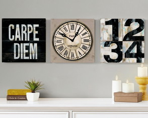 3 Quadros Decorativos Chic Carpe Diem