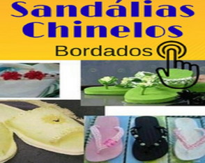 Chinelos e Sandálias Bordadas