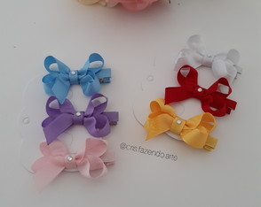 Trio Hair Clip laço boutique