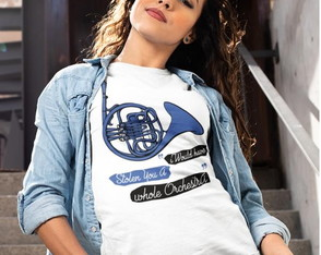 BLUSINHA ( BABY LOOK )- BLUE FRENCH HORN