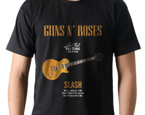 Camiseta Camisa Banda Rock Guns n' Roses Guitarra Slash