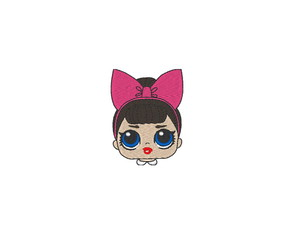 Patch Bordado Termocolante LOL Surprise Doll Rosto - modelo1
