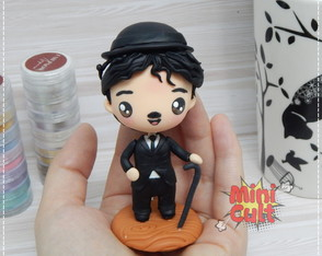 Toy kawaii Charlie Chaplin