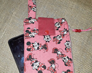 Carteira Porta Celular - Estampa Minnie