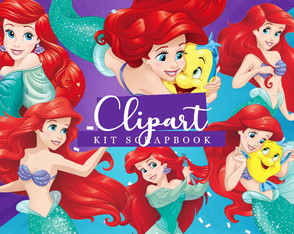 Kit Scrapbook: Cliparts Ariel
