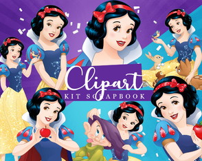 Kit Scrapbook: Cliparts Branca de Neve