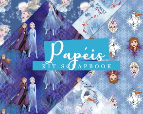 Kit Scrapbook: Papéis Frozen II
