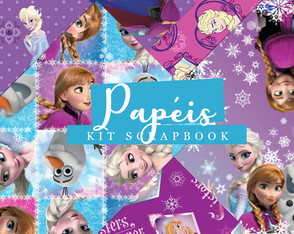 Kit Scrapbook: Papéis Frozen