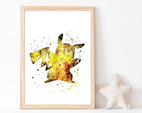 Quadro Decorativo Infantil Pokemon Picachu